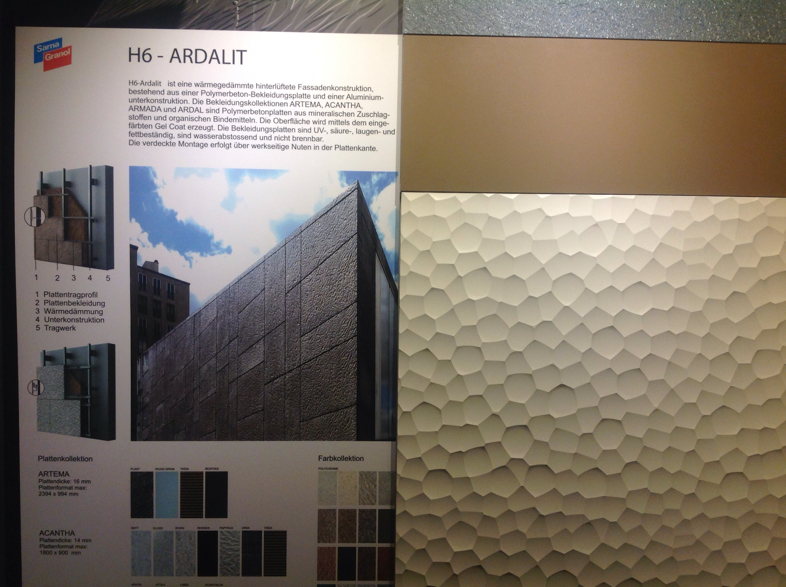Ardalit surfaces made by Sarna-Granol
